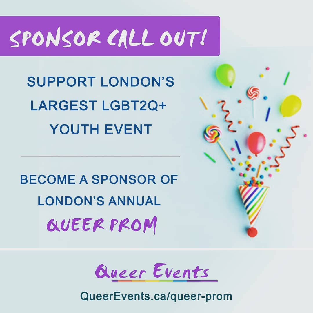 Queer Events Annual Queer Prom for Youth - Sponsorship