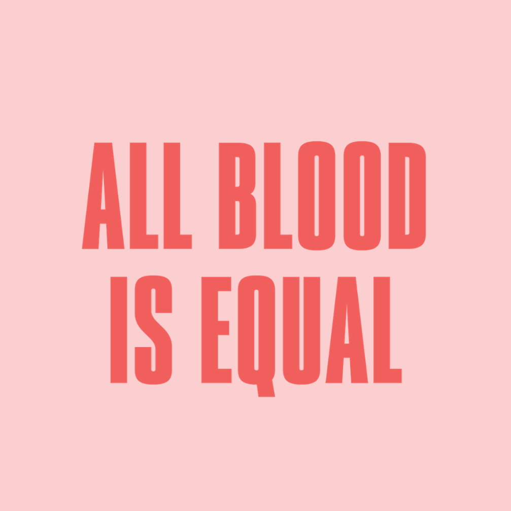 all blood is equal campaign
