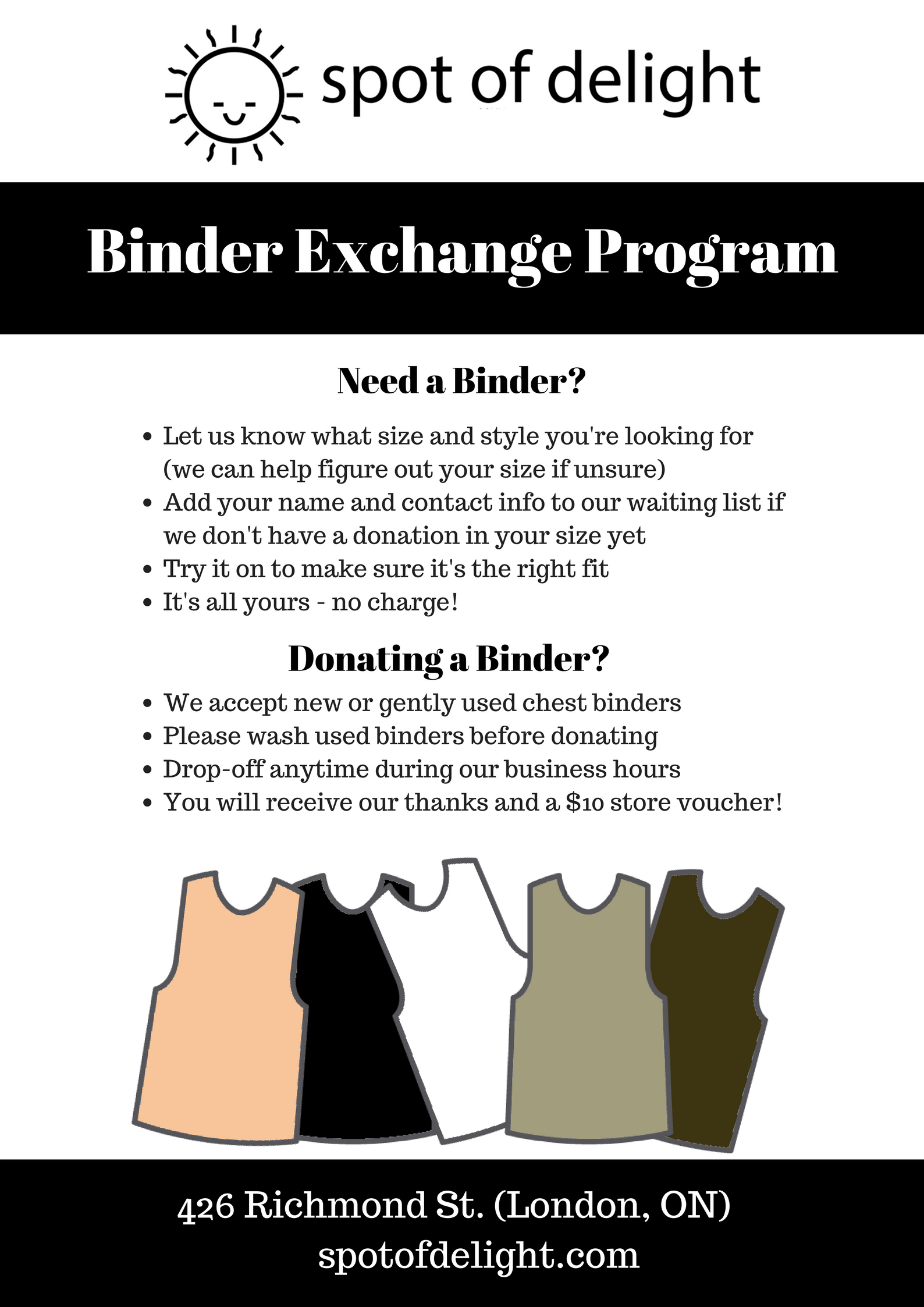 Spot of Delight - Binder Exchange Program