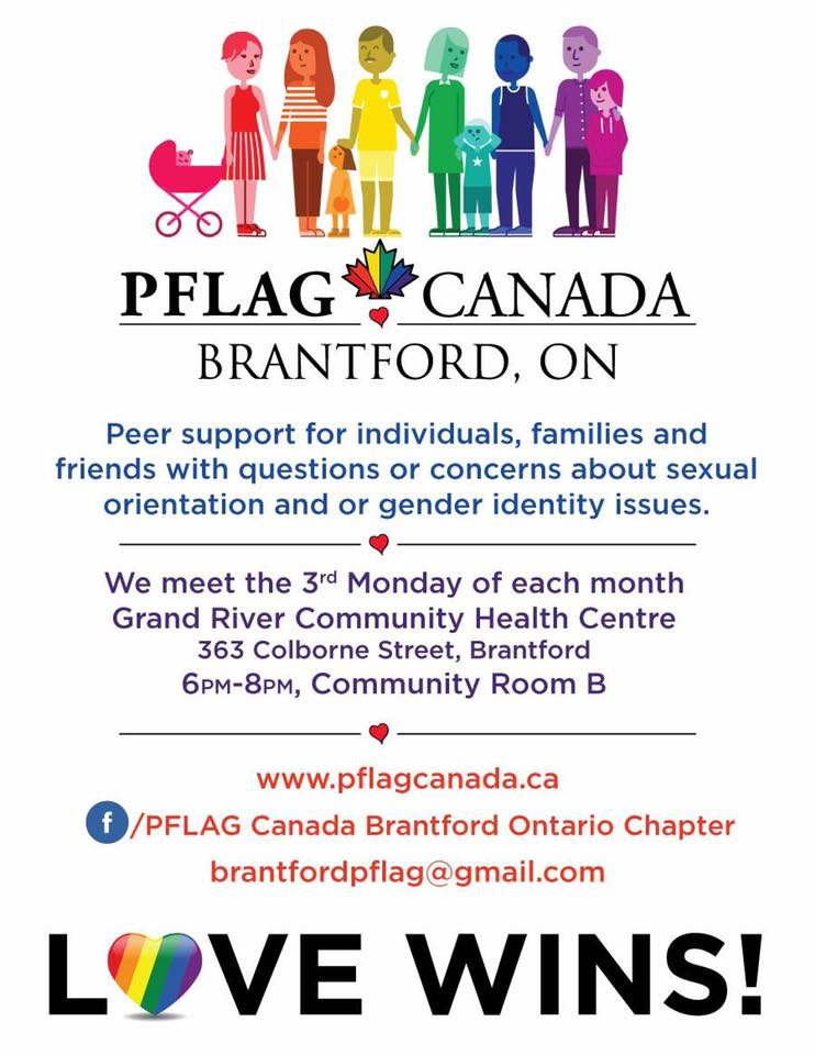 QueerEvents.ca -PFLAG Brantford- Event Poster