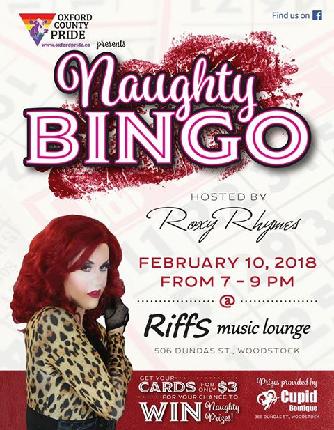 QueerEvents.ca - Naughty Bingo Oxford - Event Poster