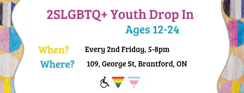 QueerEvents.ca - Brantford event listing - 2SLGBTQ+ Youth Drop In Group
