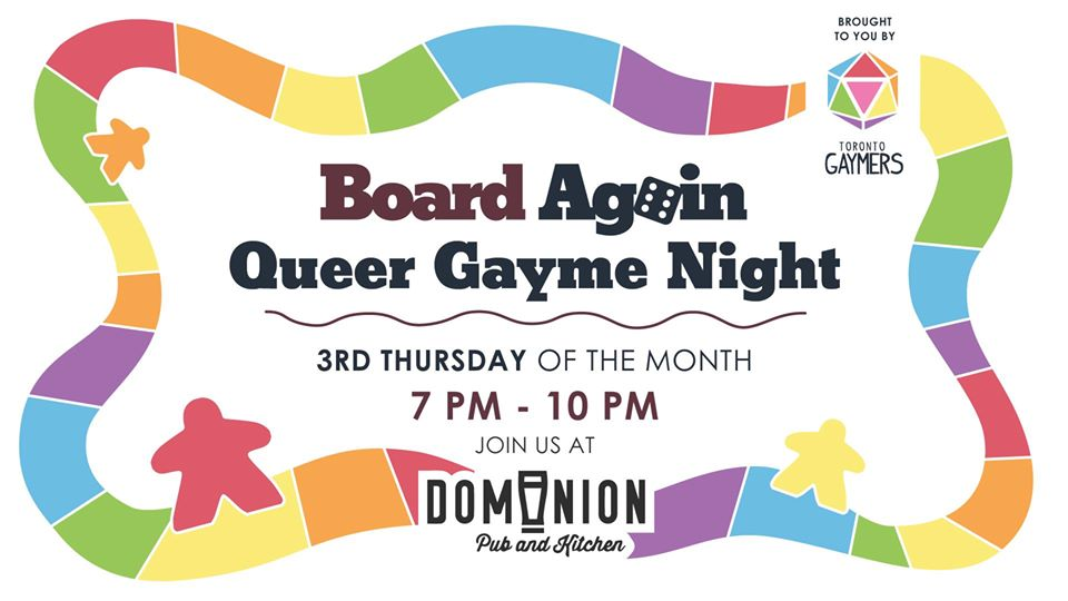 QueerEvents.ca - Toronto event listing - Queer Gayme Night - monthly event banner