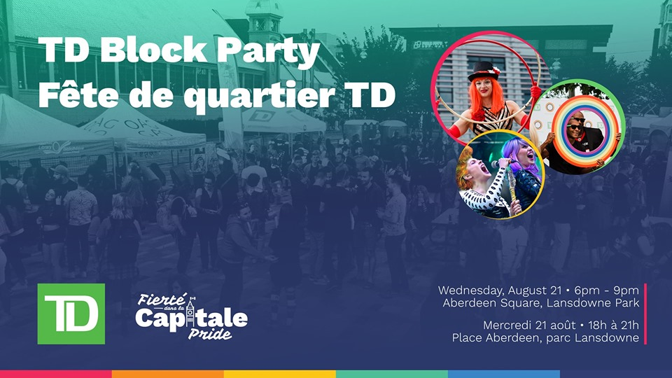 QueerEvents.ca - Ottawa event listing - TD Block Party 2019