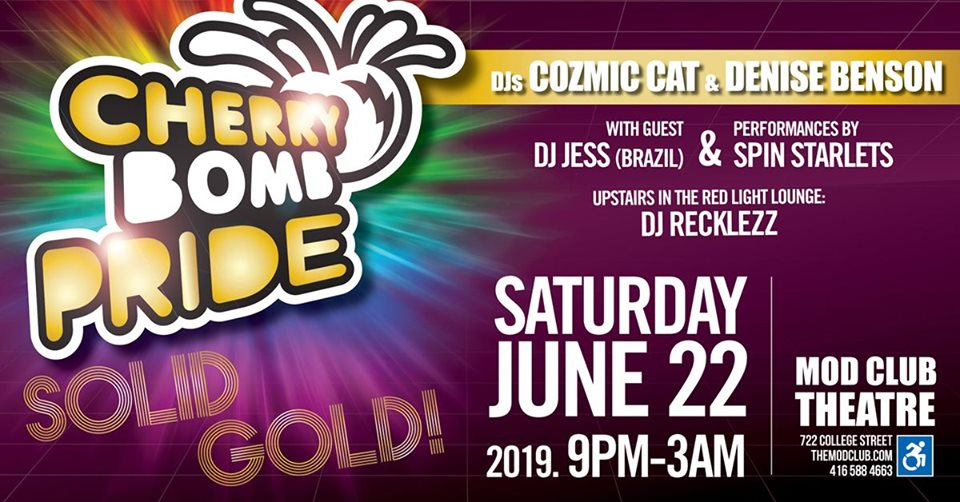 QueerEvents.ca - Toronto event listing - Cherry Bomb - 2019 Pride Edition