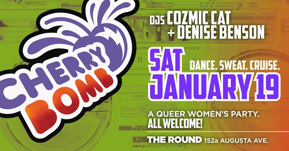QueerEvents.ca - Toronto event listing - Cherry Bomb January dance party