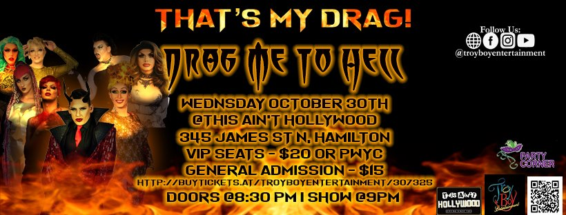 QueerEvents.ca - Hamilton event listing - That's my drag October 2019 event
