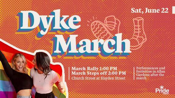 QueerEvents.ca - Toronto event listing - Dyke March 2019 event banner