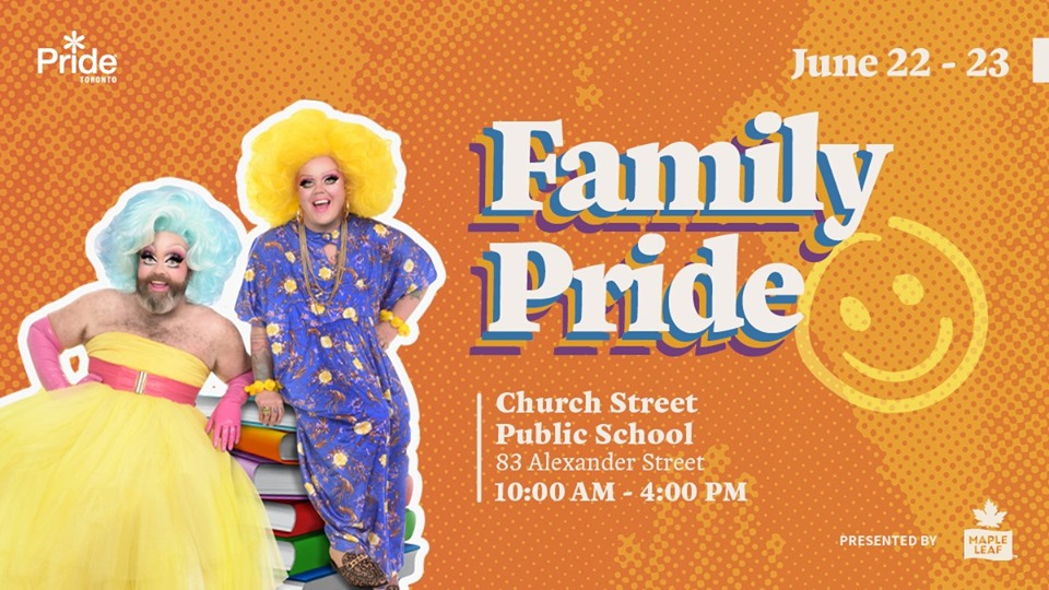QueerEvents.ca - Toronto event listing - Family Pride 2019 event banner