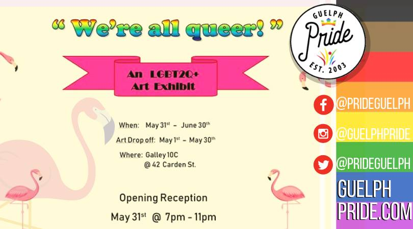 QueerEvents.ca - Guelph  pride event listing -  Queer Pride Art Show 2019