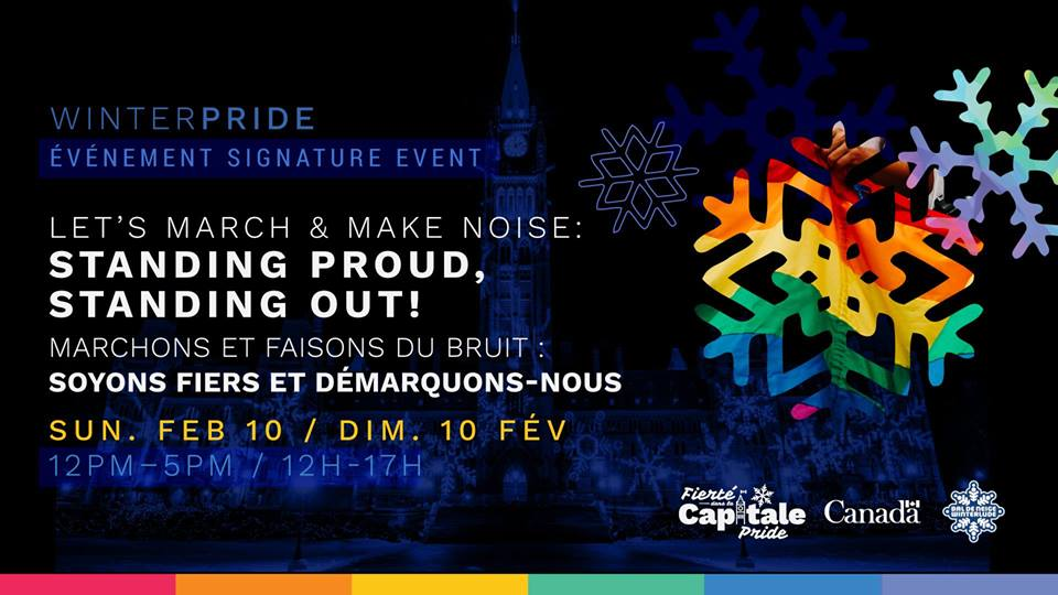 QueerEvents.ca - Ottawa Winter Pride March 2019 banner