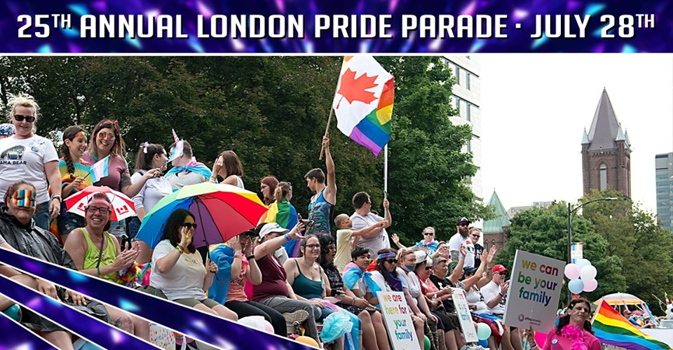 QueerEvents.ca - London event listing - Annual London Pride Parade 2019