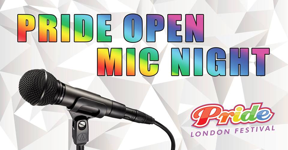 QueerEvents.ca - Pride Open Mic Night - event banner
