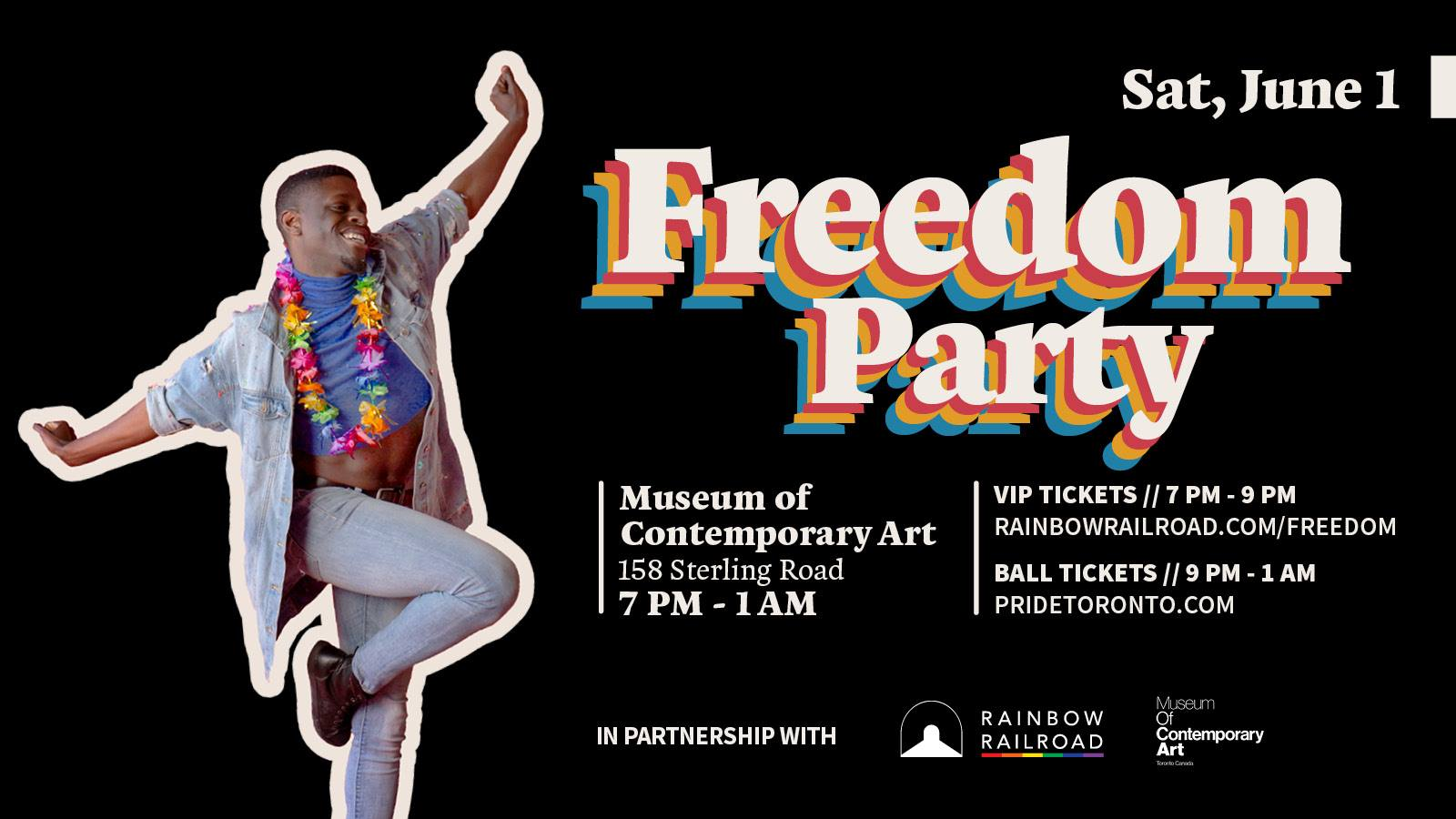 QueerEvents.ca - Toronto event listing - Freedom Party Launch party