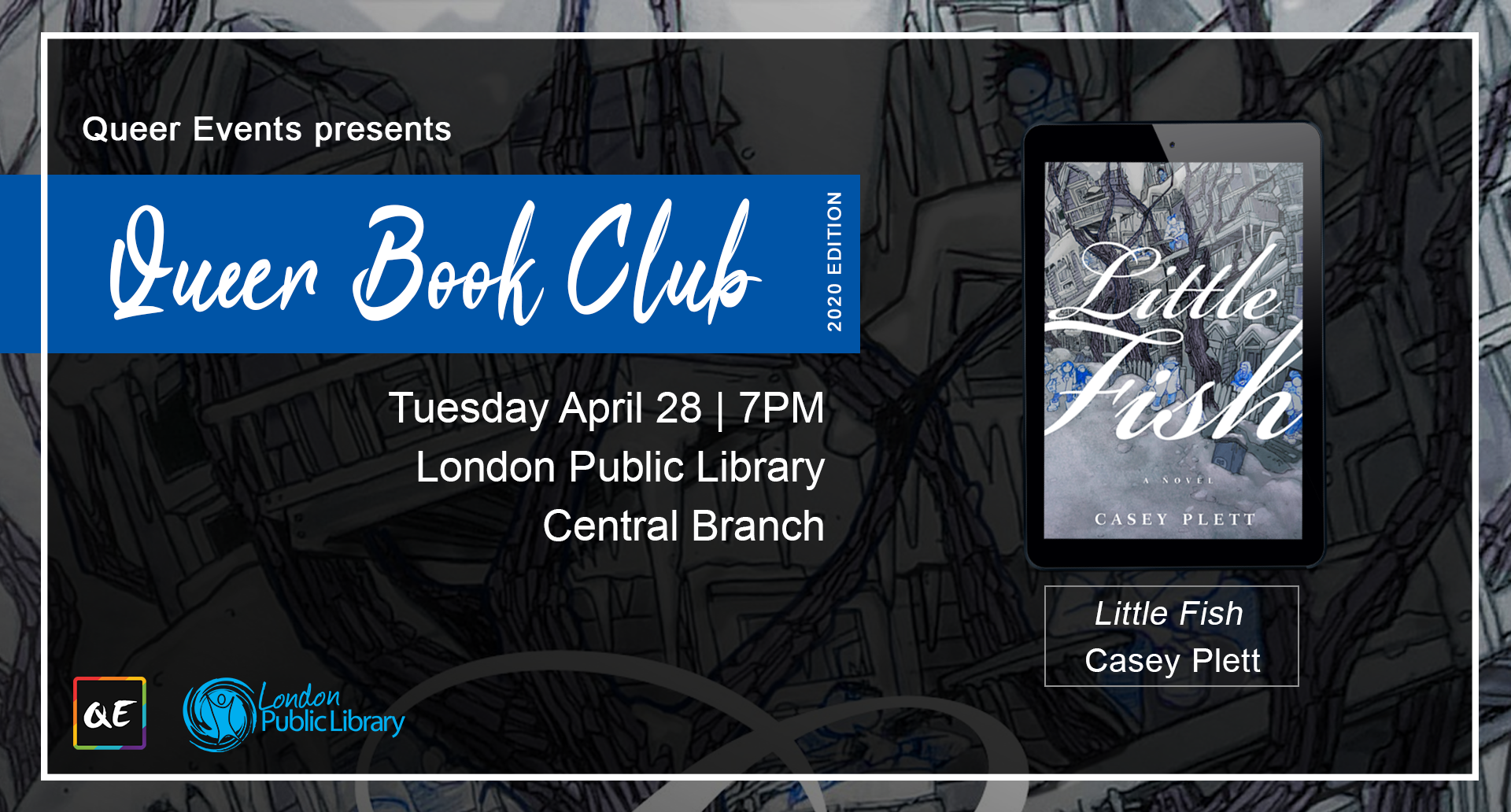 QueerEvents.ca - London event listing - QE Presents Queer Book Club: April 2020 Edition