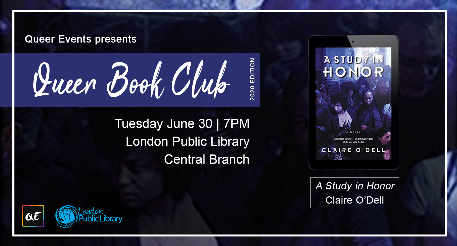 QueerEvents.ca - London event listing - QE Presents Queer Book Club: June 2020 Edition