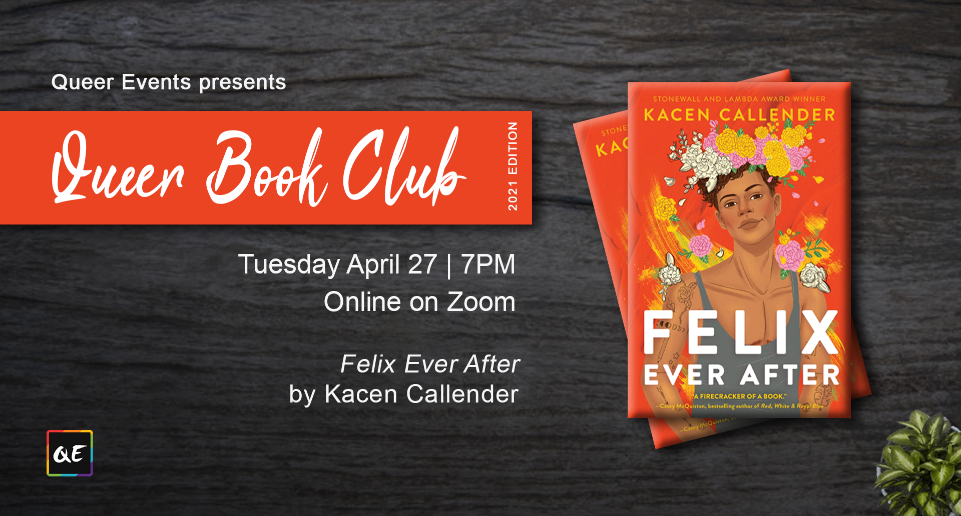 QueerEvents.ca event listing - queer book club april 2021 edition
