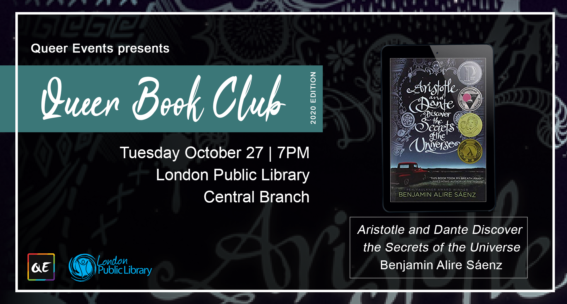 QueerEvents.ca - London event listing - QE Presents Queer Book Club: October 2020 Edition