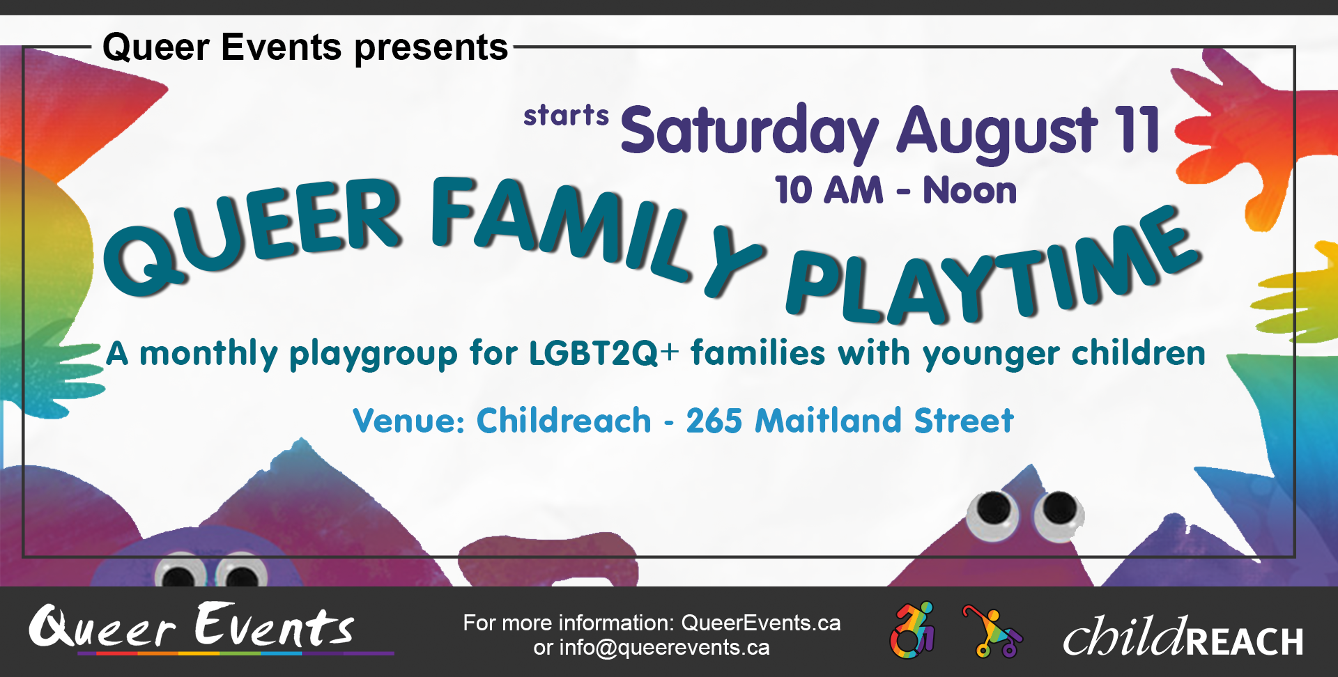 QueerEvents.ca - Queer Family Playtime - event banner