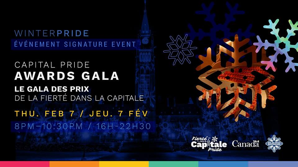 QueerEvents.ca - Ottawa winter pride event listing - Awards Gala