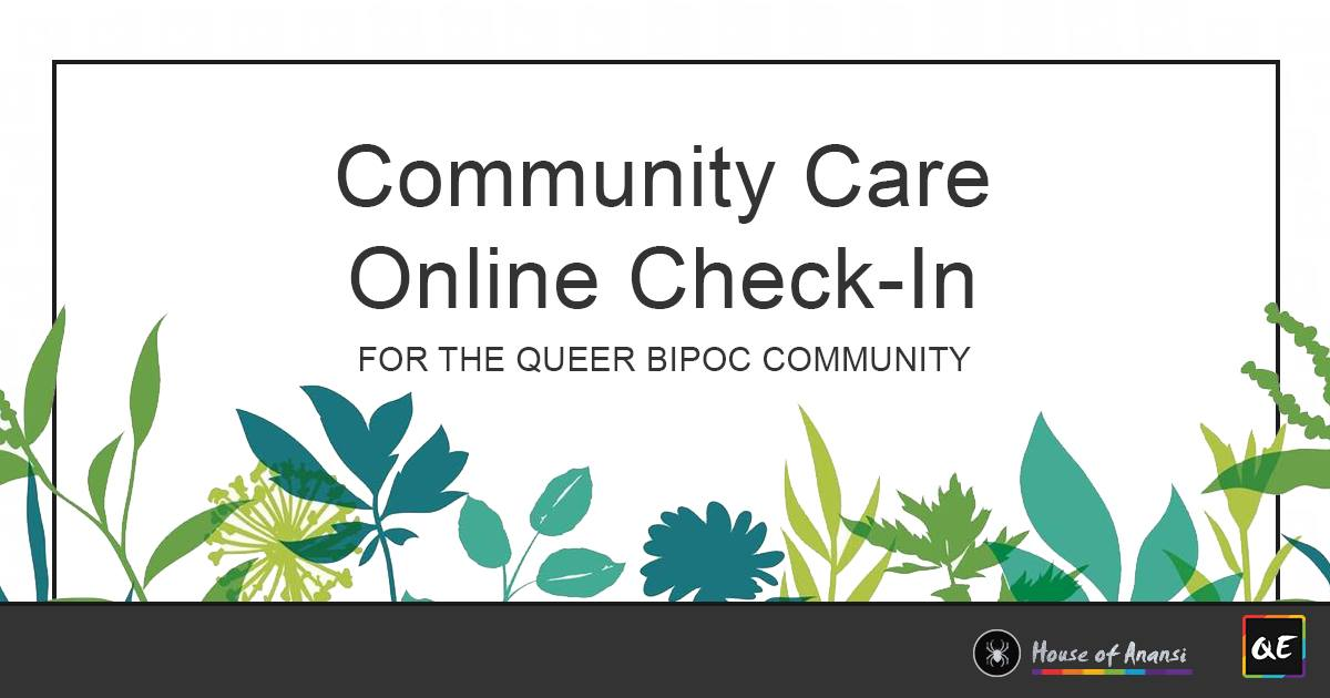 QueerEvent.ca - virtual event listing - qipoc community care event banner