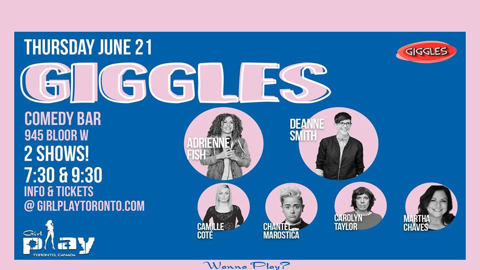 QueerEvents.ca - Giggles Comedy Show - event banner