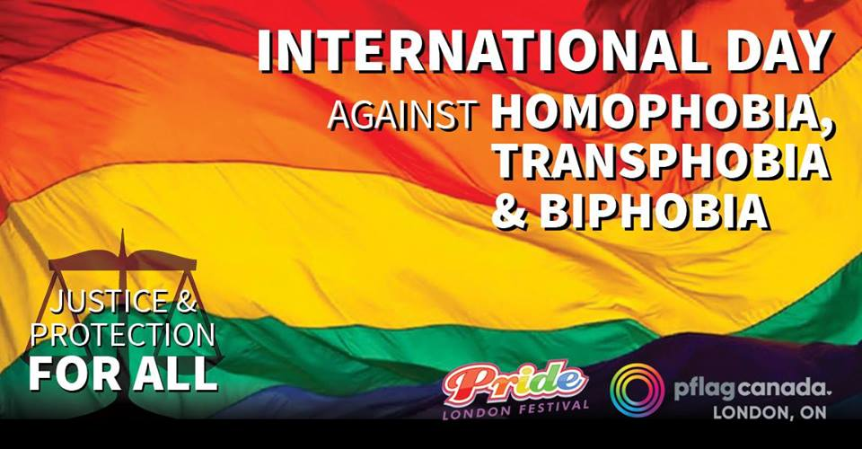 QueerEvents.ca - London event listing - IDAHOT 2019 London On event banner
