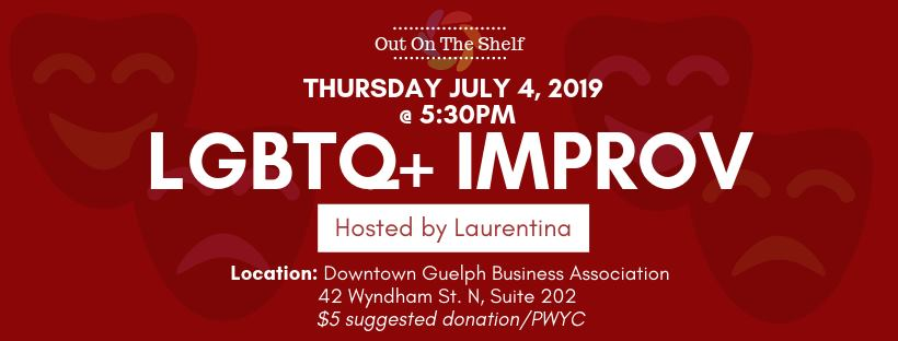 QueerEvents.ca - Guelph - Out on the Shelf - Improv Workshop