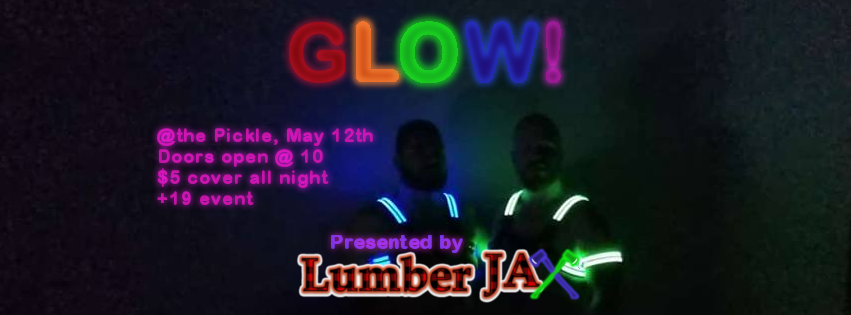 QueerEvents.ca - LumberJax Glow - event banner