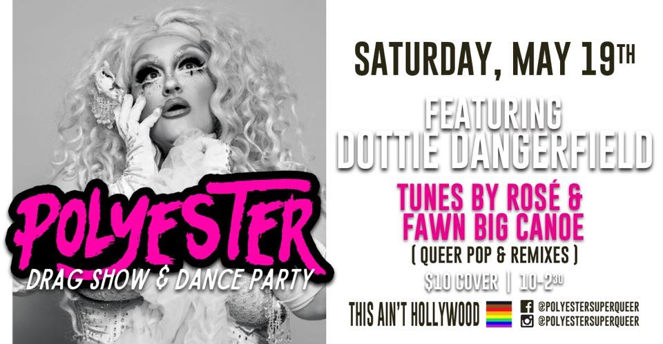 QueerEvents.ca - Polyester May 2018 - event banner