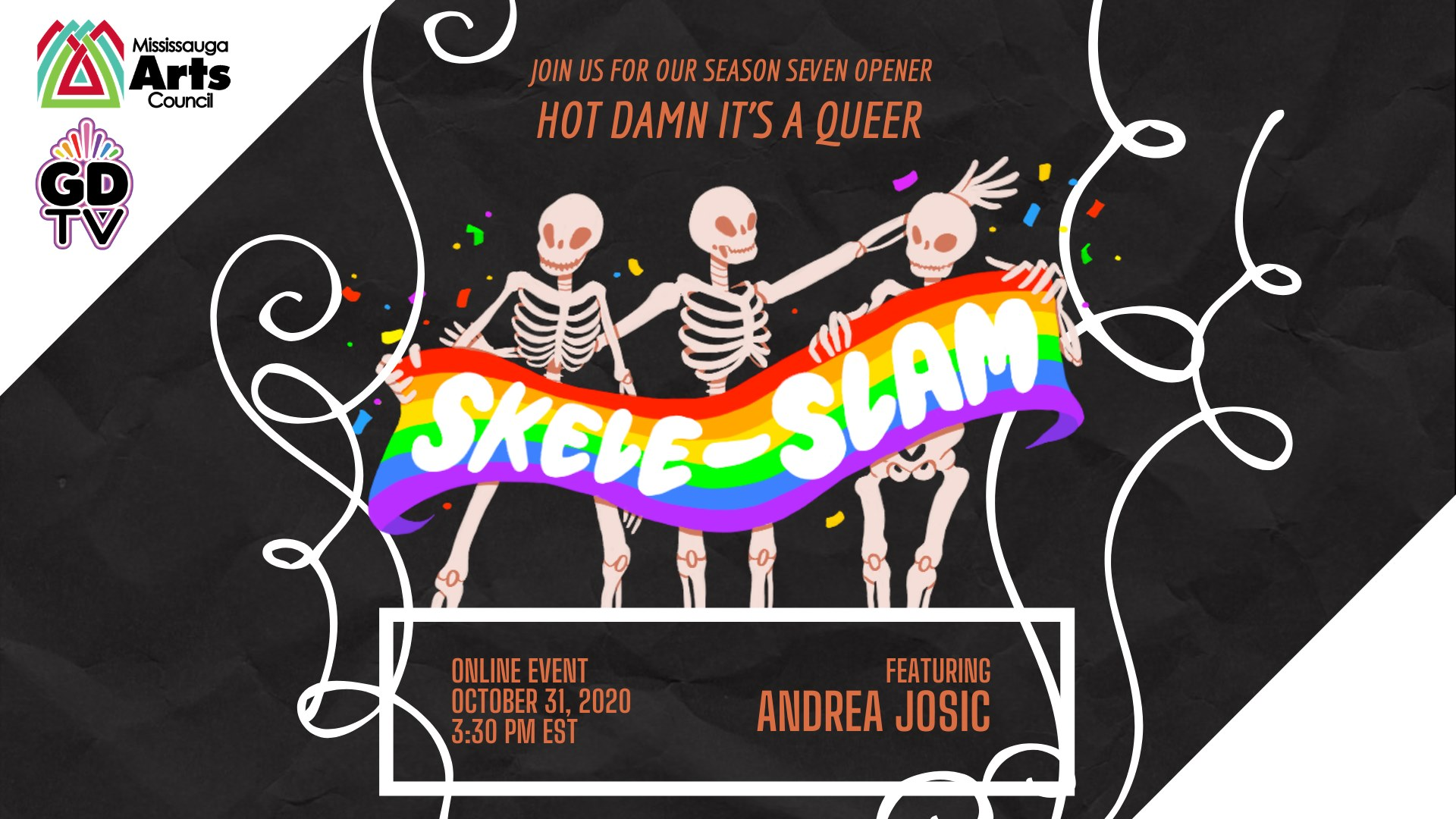 QueerEvents.ca - virtual event listing - queer slam skele-slam oct 2020