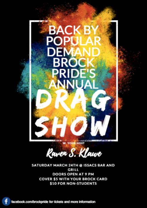 QueerEvents.ca - Event - Brock Pride Drag Show Poster