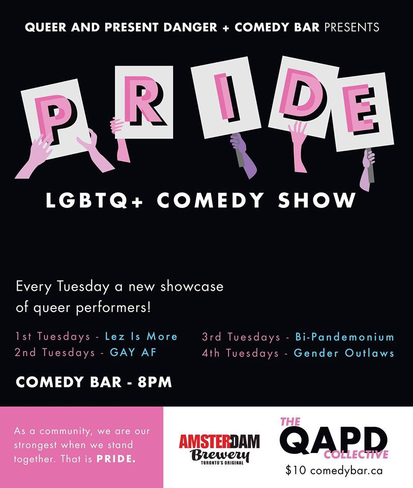 QueerEvents.ca - Toronto event listing - Queer & Present Danger weekly comedy show