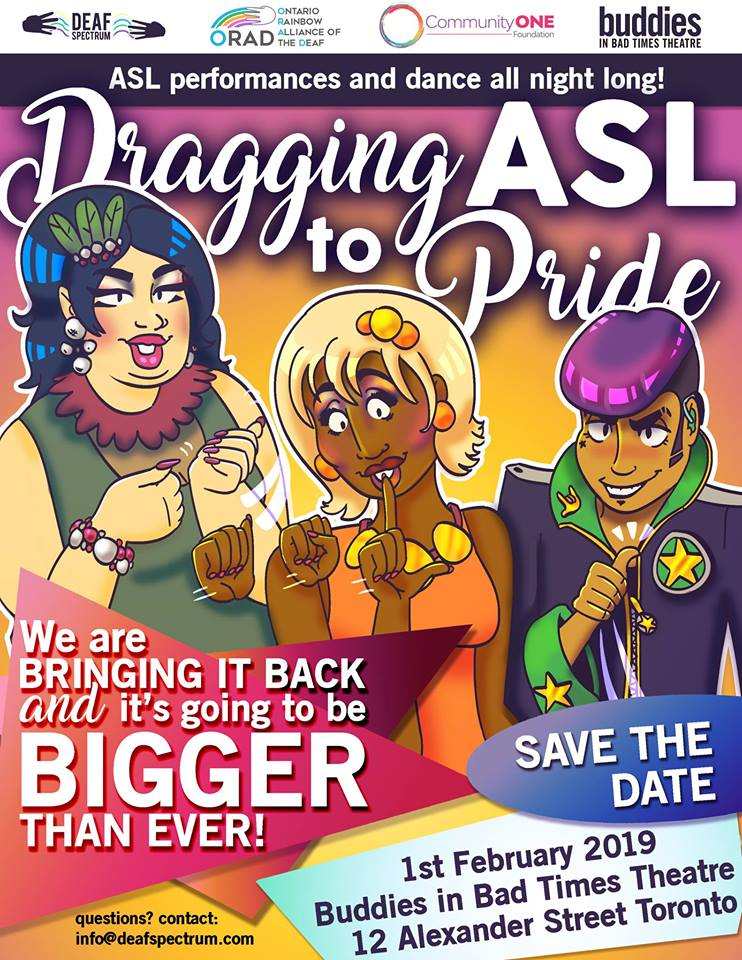 QueerEvents.ca - Toronto event listing - Dragging ASL to Pride