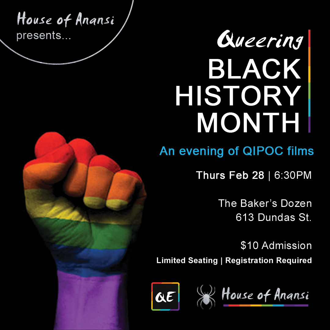 QueerEvents.ca-House of Anansi - Queer Black History Month