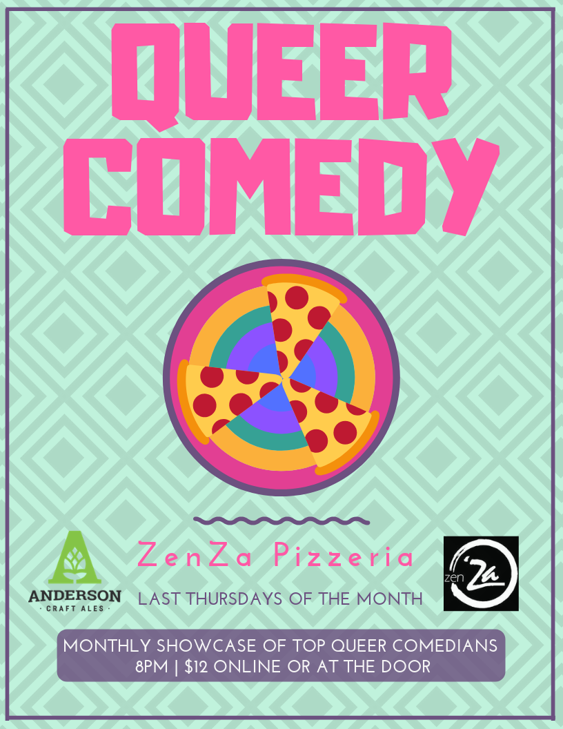 QueerEvents.ca - London event listing - Queer Comedy Night - Monthly event poster