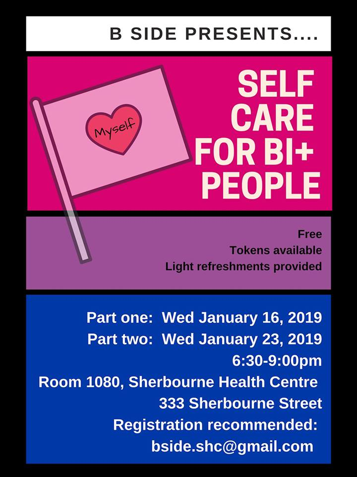 QueerEvents.ca - Toronto Event Listing - Self Care for Bi+ People