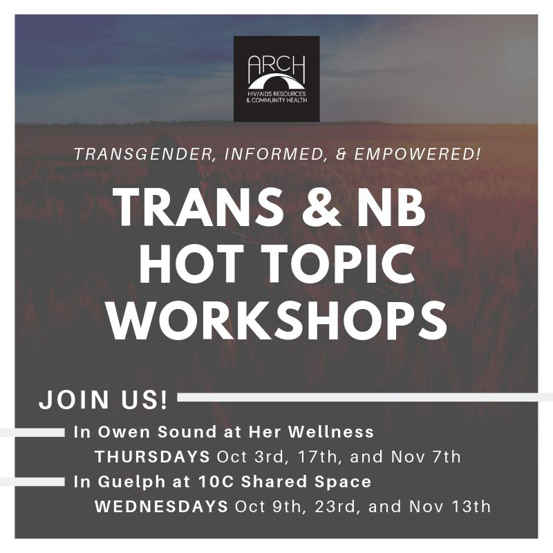 QueerEvents.ca -Guelph Event Listing - Trans & Non-Binary Hot Topic Workshops