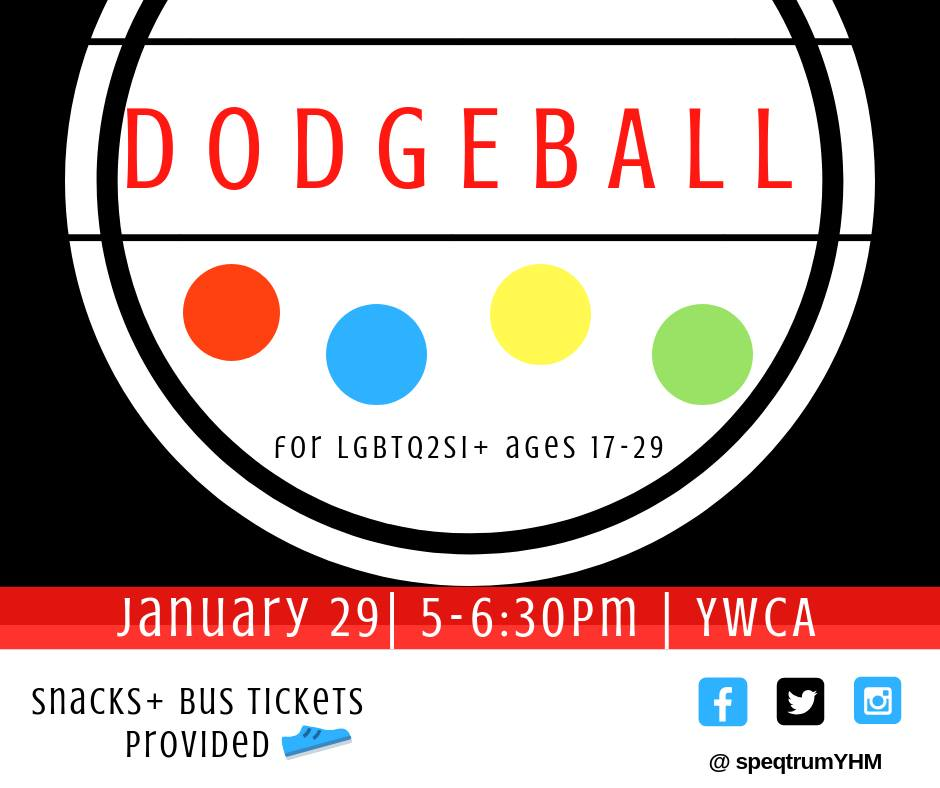 QueerEvents.ca - Hamilton event listing - Youth Dodgeball game