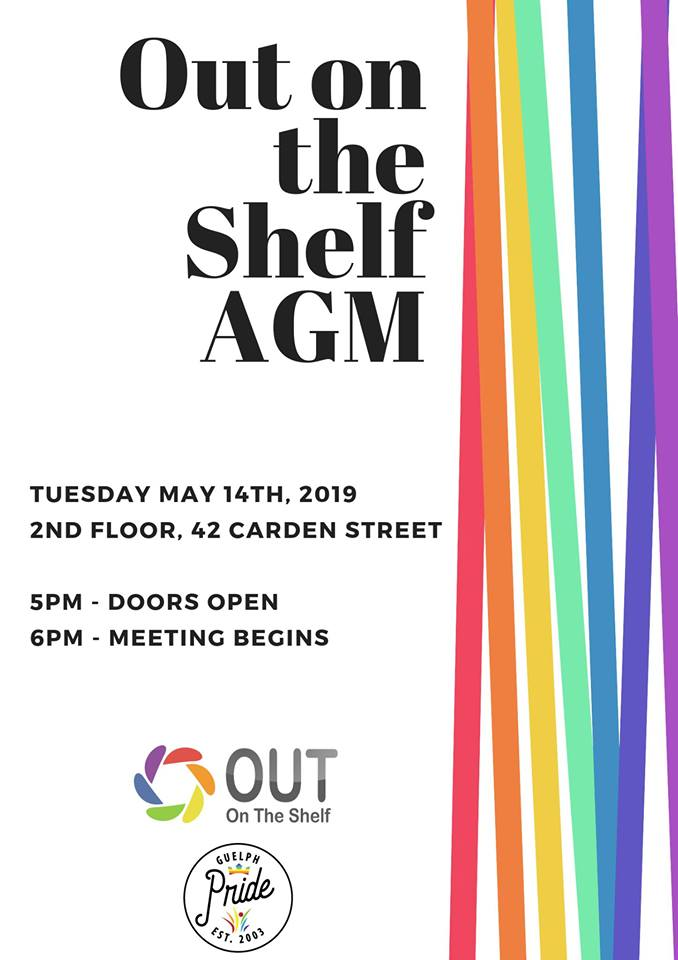 QueerEvents.ca - Guelph - Out on The Shelf - AGM