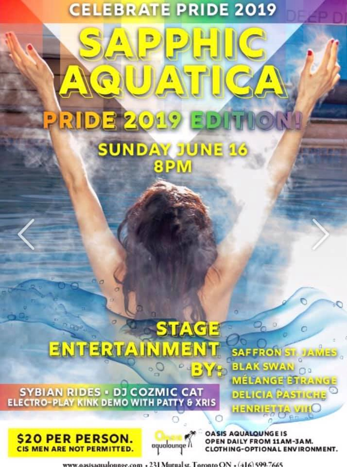 QueerEvents.ca - Sapphic Aquatica - Toronto Event Listing