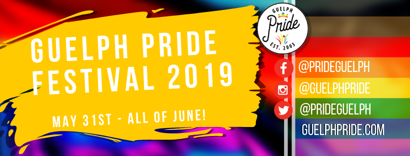 QueerEvents.ca - Pride Celebration - Guelph Pride 2019 Banner