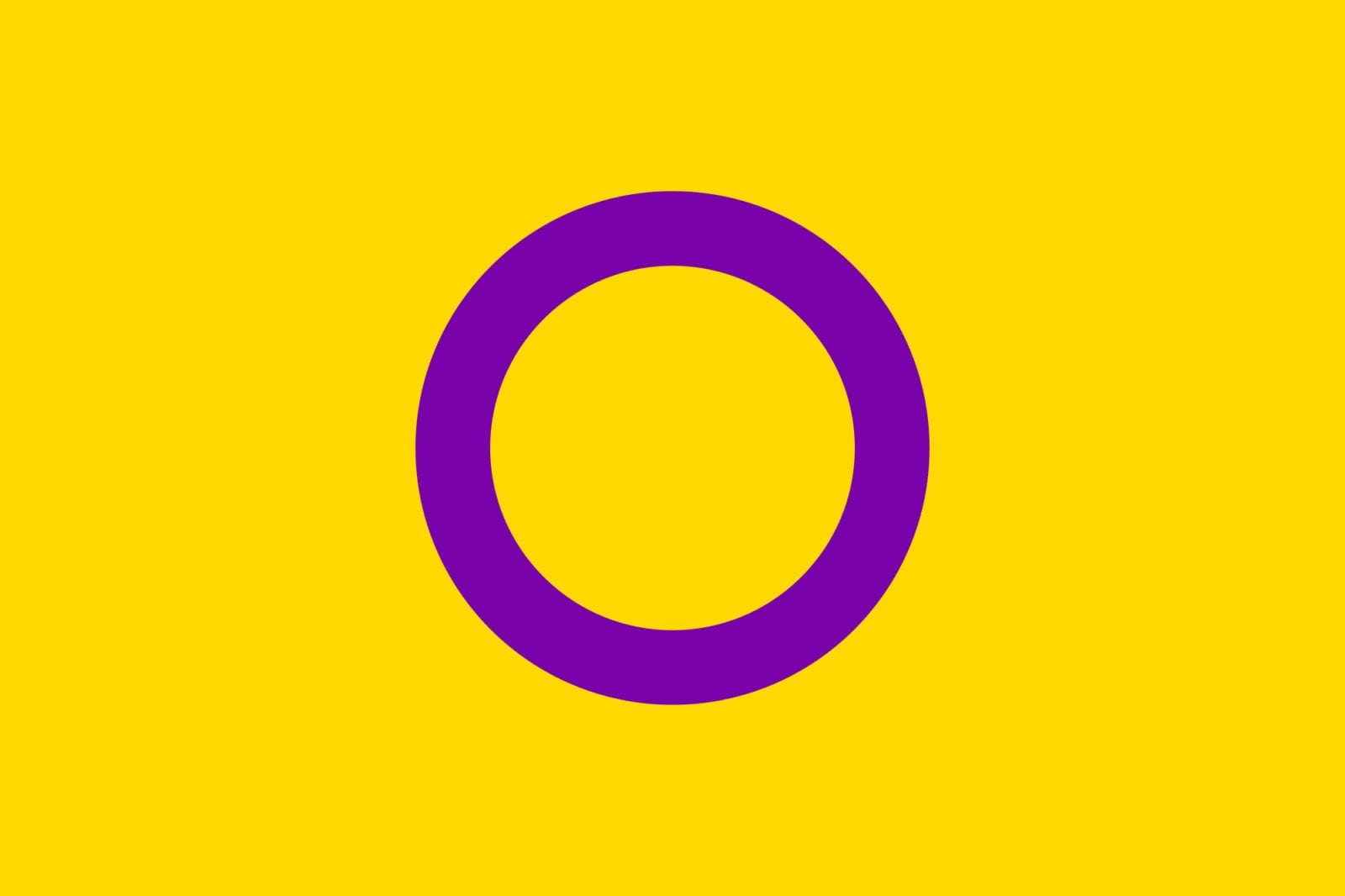 QueerEvents.ca - Queer Flags - Intersex Flag Image