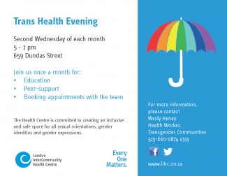 QueerEvents.ca - Trans Health Evening - Event Poster