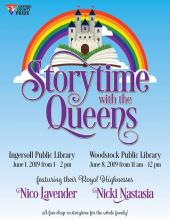 QueerEvents.ca - Oxford Pride Festival - Drag Queen Storytime 2019 event poster