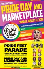 QueerEvents.ca - Windsor event listing - Pride Day Market Place 2019 - Event Poster