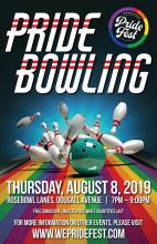 QueerEvents.ca - Windsor event listing - Pride Fest Bowling Night - Event Poster