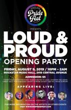 QueerEvents.ca - Windsor event listing - Loud & Proud 2019 - Event Poster