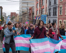 QueerEvents.ca - queer history - newfoundland trans march 2015