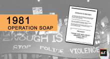 Queerevents.ca - queer history - operation soap banner